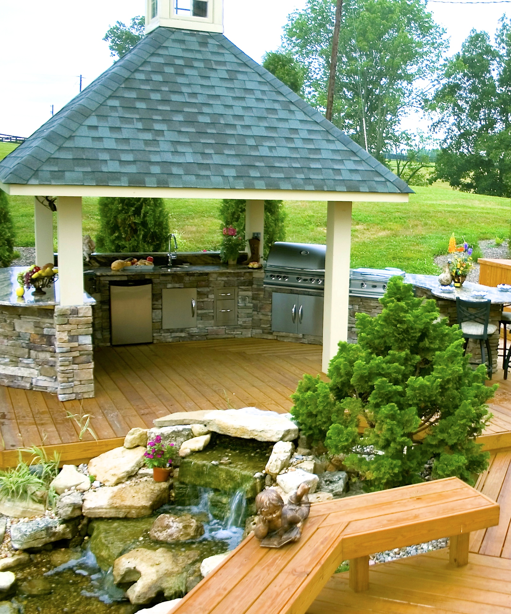 Custom Outdoor Kitchens By American Deck & Sunroom In
