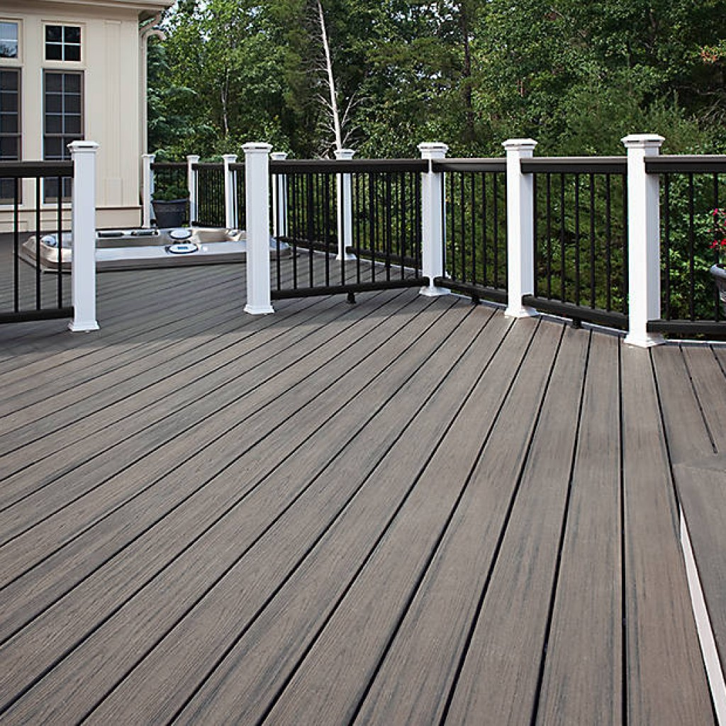 Composite decking american deck sunroom for Staining trex decking