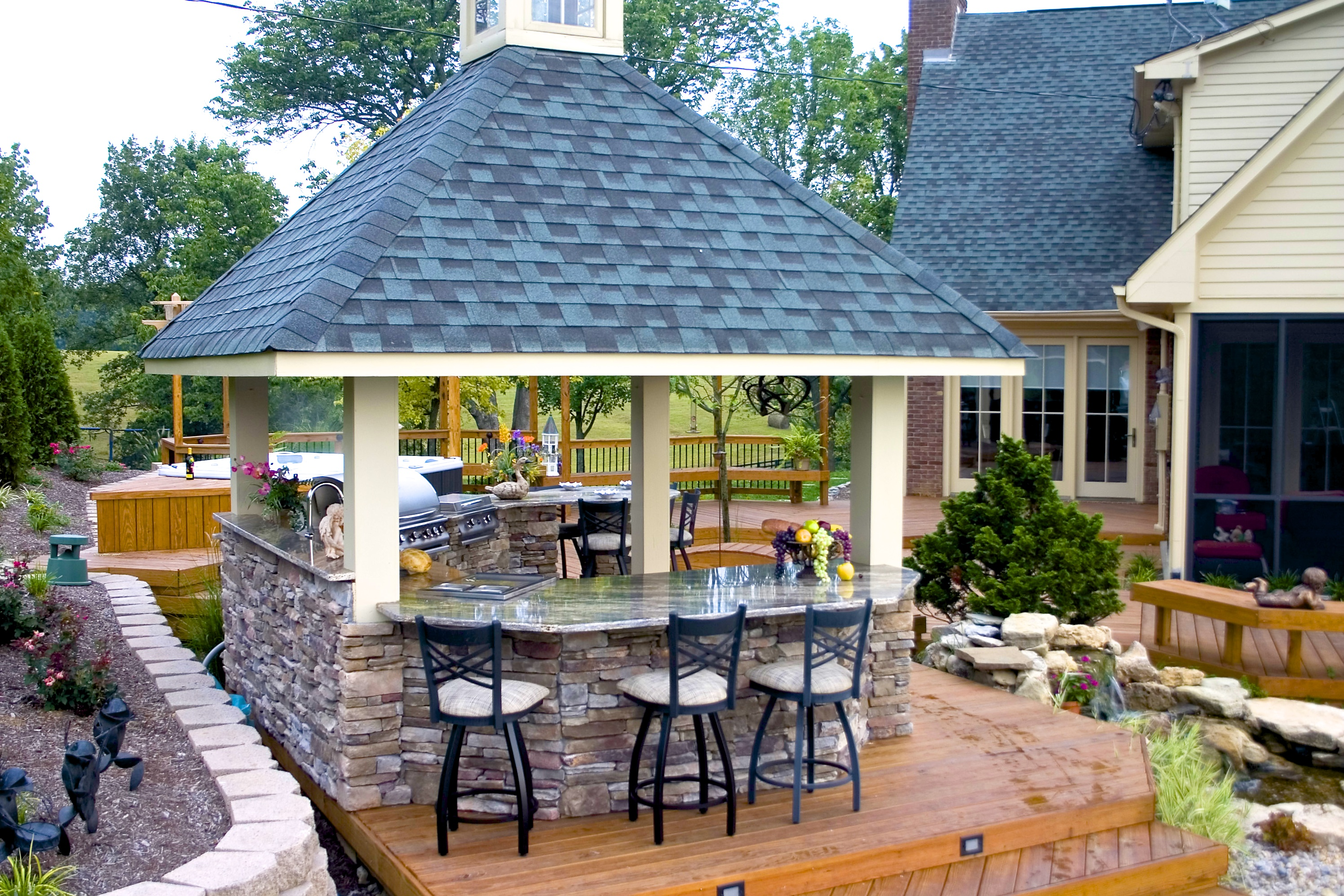 Custom Outdoor Kitchens by American Deck & Sunroom in Lexington ...