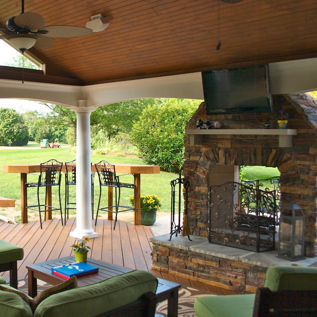 outdoor fireplaces in kentucky by american deck u0026 sunroom