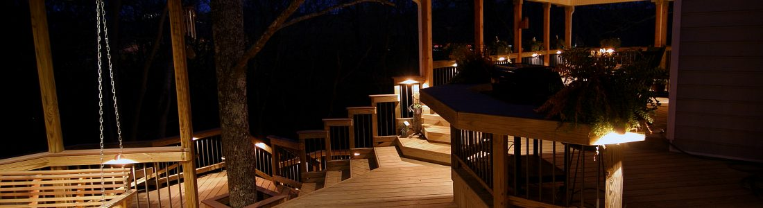 Outdoor Lighting by American Deck & Sunroom