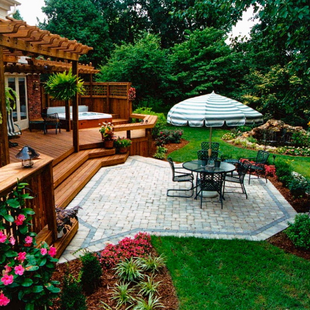 | Paver Patios on Deck And Paver Patio Ideas id=76857